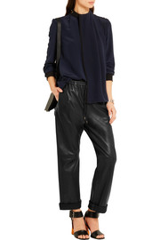 Joseph Loulou textured-leather wide-leg pants