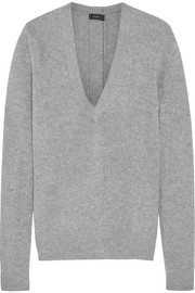 Button-detailed cashmere sweater