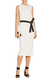 Murphy belted stretch-crepe midi dress