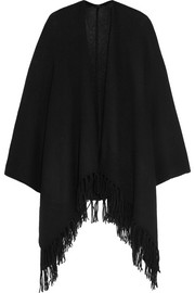 Oversized fringed cashmere wrap