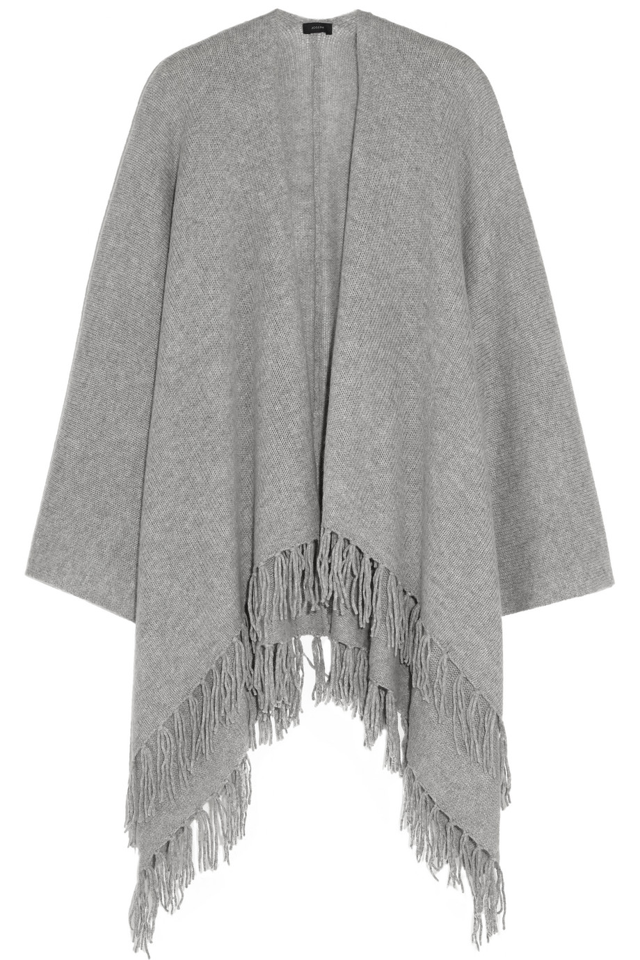 Joseph Oversized Fringed Cashmere Wrap, Light Gray, Women's