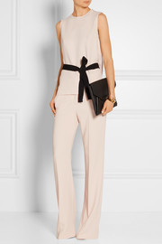 Murphy belted stretch-crepe top