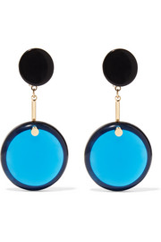 Marni Gold-plated, resin and horn earrings