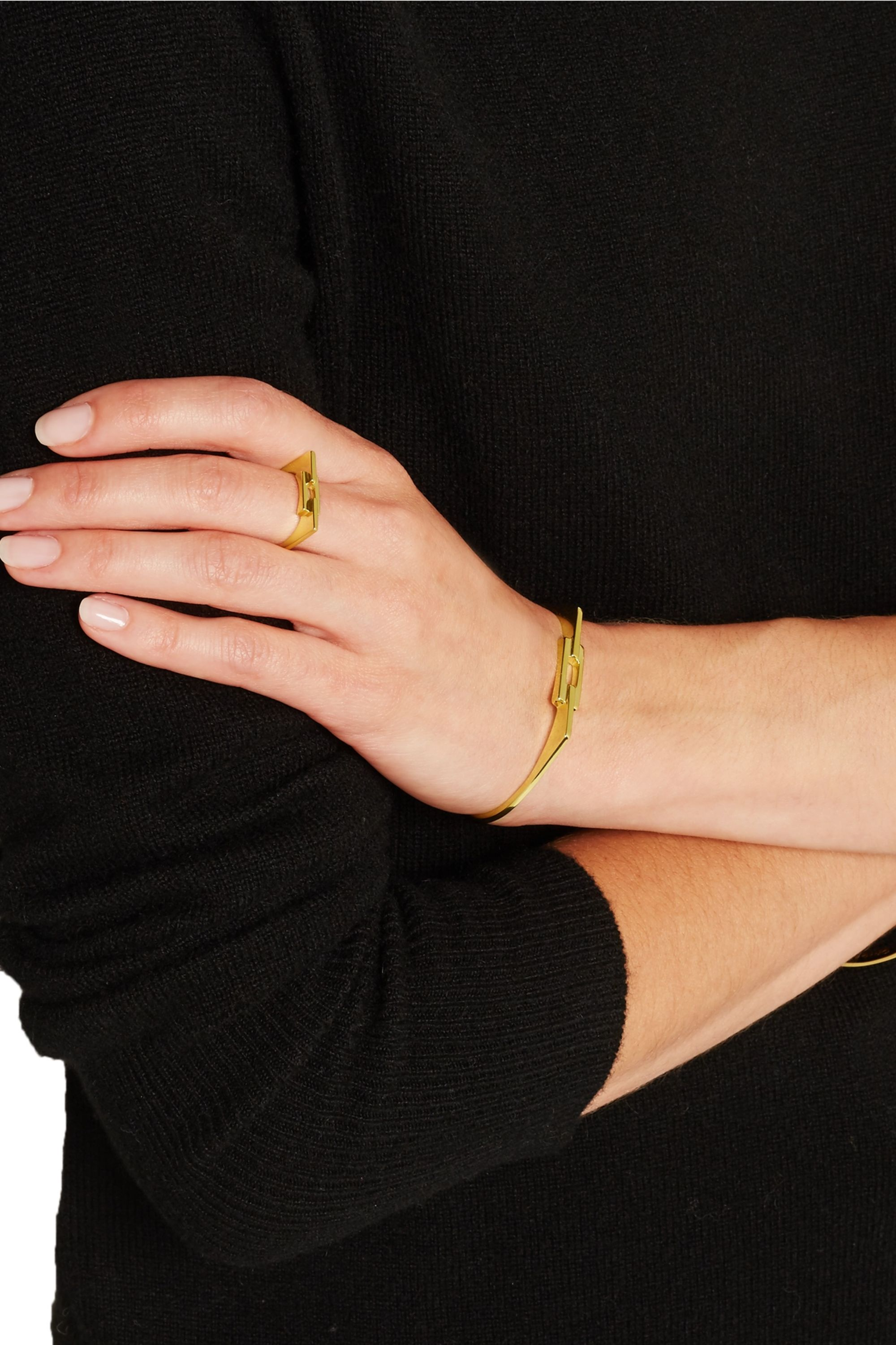 Maria Black Aurore gold-plated cuff