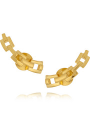 Celeste gold-plated earrings