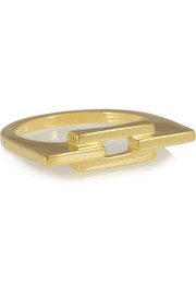 Aurore gold-plated ring