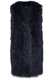 Oversized faux fur gilet