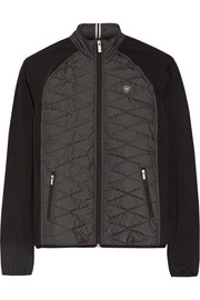 Cloud 9 quilted shell and stretch-jersey jacket