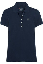 Prix cotton-blend piqué polo shirt
