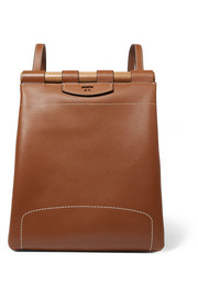 Dowel leather backpack