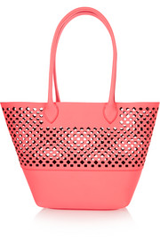 Orla laser-cut leather tote