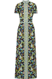 Tory Burch Printed silk-chiffon maxi dress
