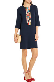 Milano embroidered jersey mini dress