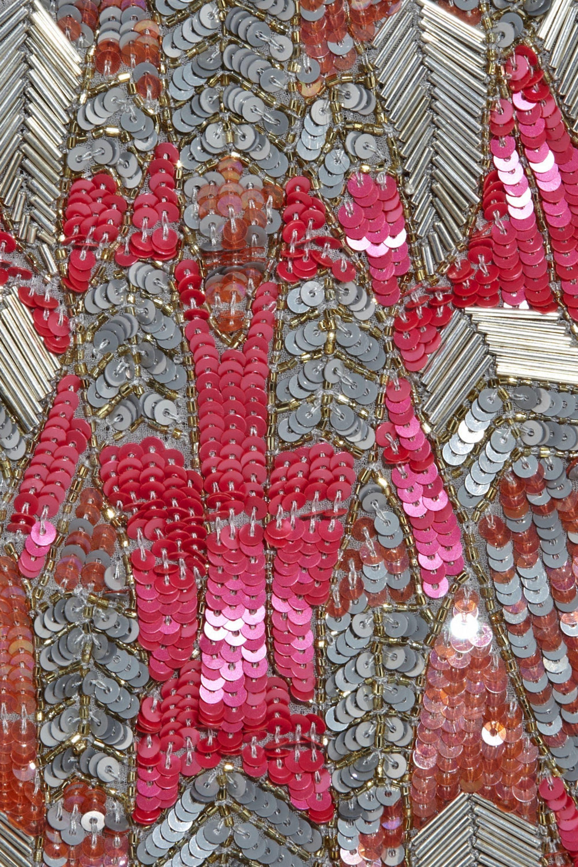Matthew Williamson Sequin-embellished silk-georgette shift dress