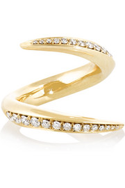 Aerial 18-karat gold diamond ring