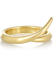 Interlocking 18-karat gold ring