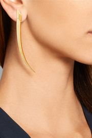 Sabre large 18-karat gold earrings