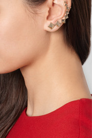 Valentino The Rockstud pale gold-tone ear cuff