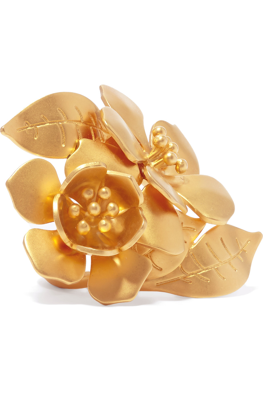 Valentino Gold-Tone Ring, Women's, Size: L