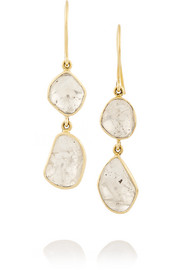 18-karat gold diamond drop earrings