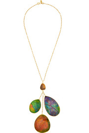 18-karat gold ammolite necklace