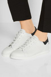 Alexander McQueen Leather and suede sneakers