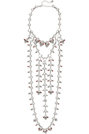 Philo oxidized silver-plated Swarovski crystal necklace
