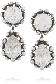 Alix oxidized silver-plated Swarovski crystal earrings