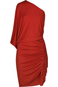 Michael Kors | Ruched asymmetric jersey dress | NET-A-PORTER.COM from net-a-porter.com