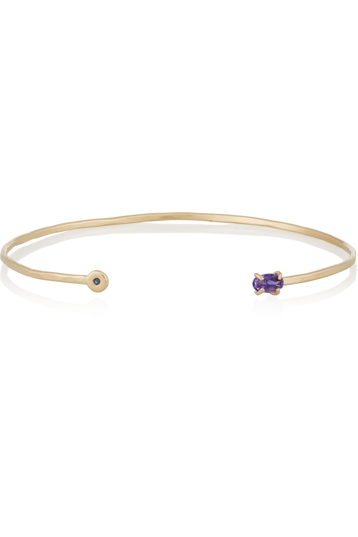 Melissa Joy Manning 14-karat gold, tanzanite and sapphire cuff