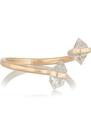 14-karat gold Herkimer diamond ring