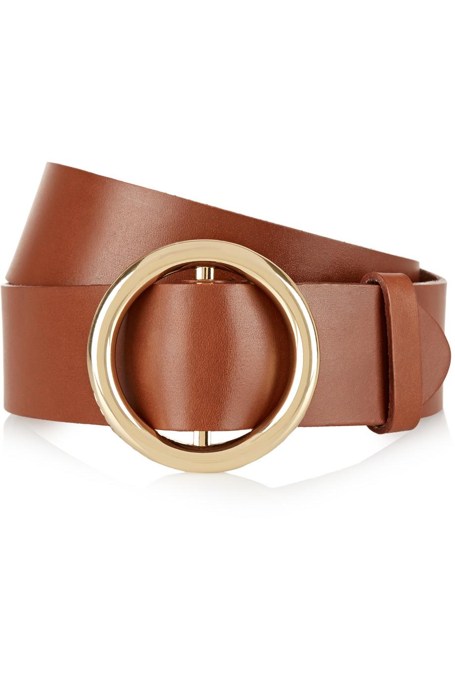 Frame Denim Le Frame Leather Belt, Brown, Women's, Size: 70