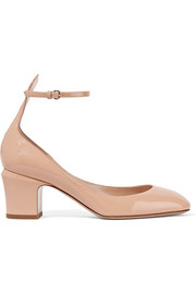 Tan-Go patent-leather pumps