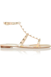 Valentino Rockstud printed leather sandals