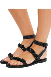 Valentino Embellished braided leather sandals