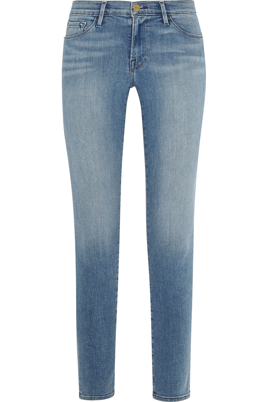 Frame Denim Le Skinny De Jeanne Mid-Rise Jeans, Light Denim, Women's, Size: 23