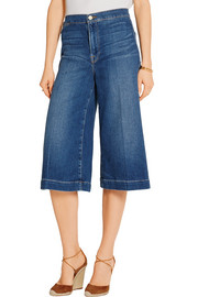 Frame Denim Le Culotte cropped high-rise wide-leg culottes
