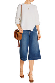Le Culotte cropped high-rise wide-leg culottes