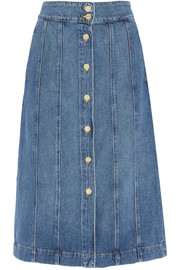 Le Panel denim skirt