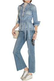 Frame Denim Le Patch Pocket belted denim jacket