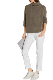 Frame Denim Le Cropped stretch cotton-blend twill pants