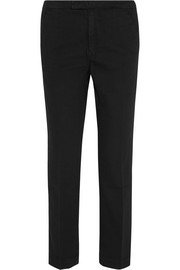 Le Cropped stretch cotton-blend twill tapered pants