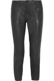 Le Garcon stretch-leather slim boyfriend pants
