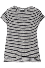 Le Muscle striped slub linen T-shirt