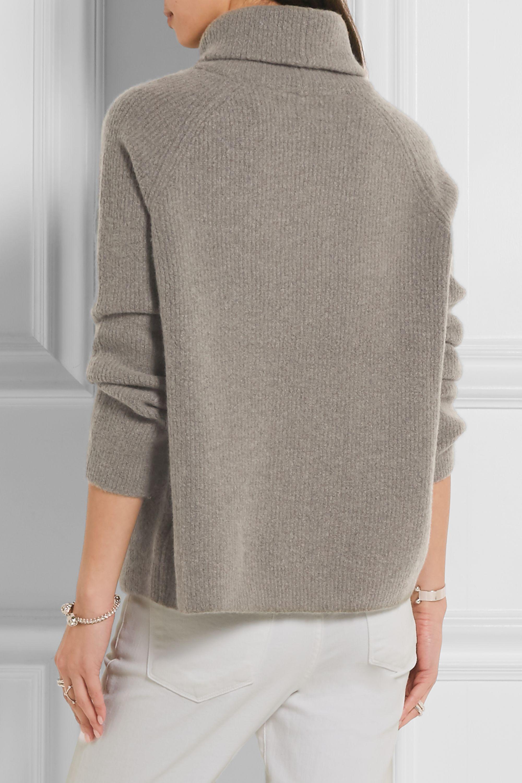 FRAME Le Funnel ribbed-knit cashmere-blend sweater