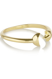 Moon Age gold-plated ring