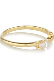 Star Age gold-plated pearl ring