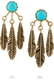 Pamela Love Frida gold-tone turquoise earrings