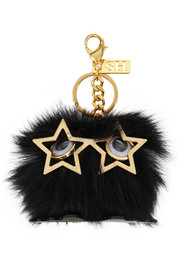 Sophie Hulme Shearling keychain