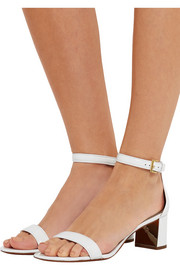 Cecile patent-leather sandals